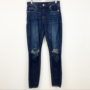 Blank NYC Mid-Rise Skinny Ankle Jean 26 Distressed